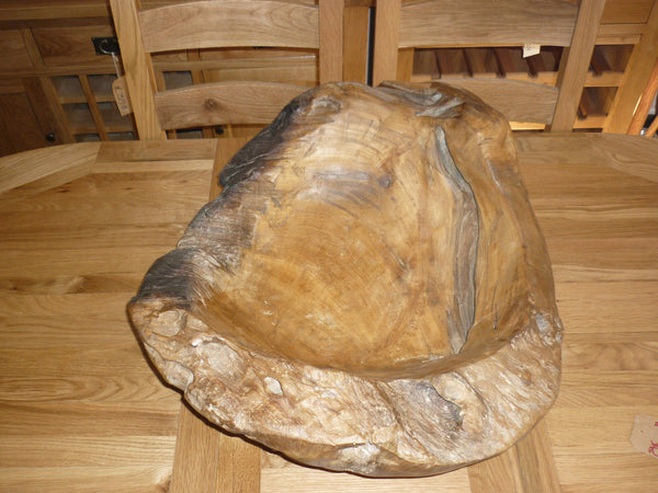 LARGE TEAK ROOT RECLAIMED FRUIT & SALAD BOWL HAND CRAFTED AT002D