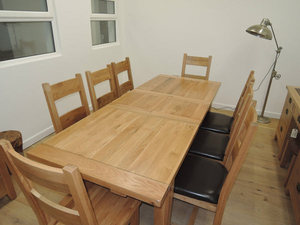 VANCOUVER PETITE NB006 OAK EXTENDING 180CM TO 230CM TABLE WITH BUTTERFLY EXT