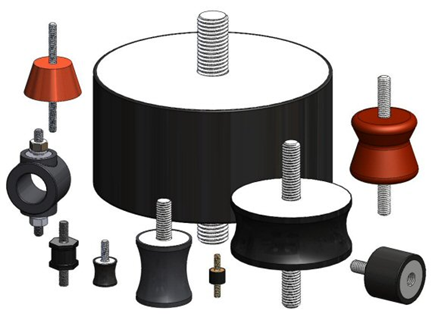 Range of rubber bobbin sizes