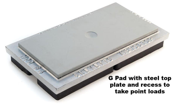 Single rubber G Pad with steel top plate