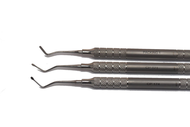 Set d'instruments pour placement des cordonnets gingivaux