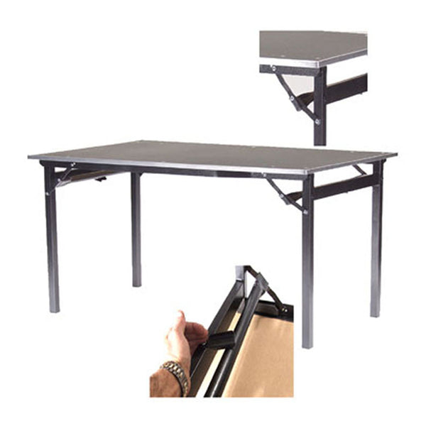 Deluxe folding tables flock top heavy duty