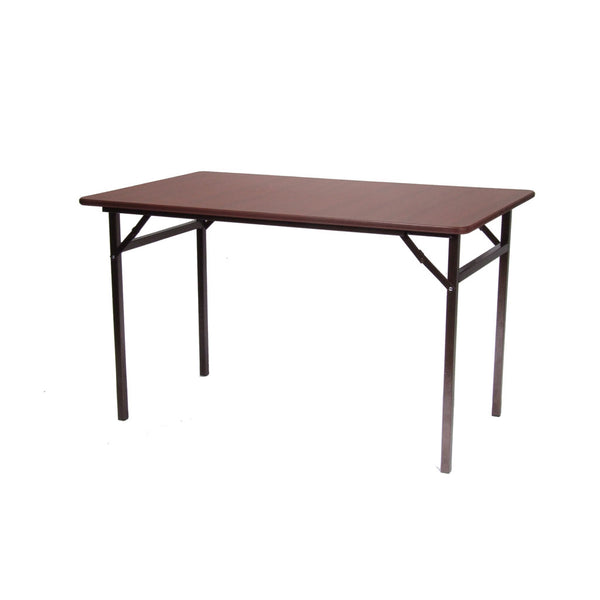 Oak or Walnut finish folding tables