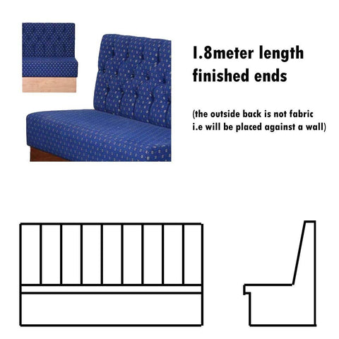 Bench Seat - 1.8 Meter Length Button Back Bench Seat