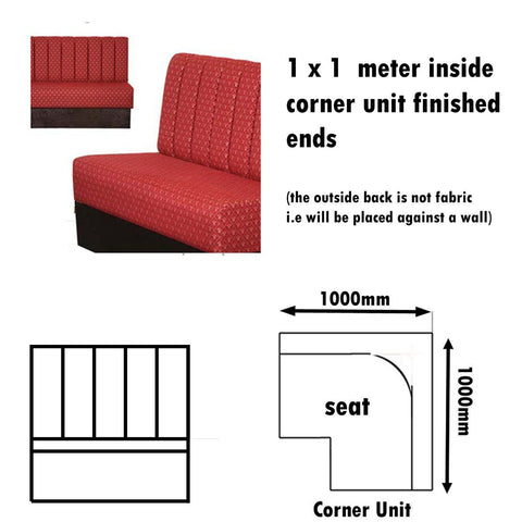 Bench Seat - 1 X 1  Meter Inside Corner Unit Fluted Bench Seat