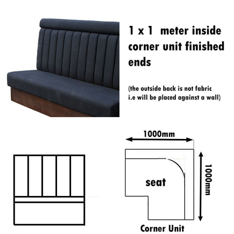 Bench Seat - 1 X 1  Meter Inside Corner Unit High Back Bench Seat