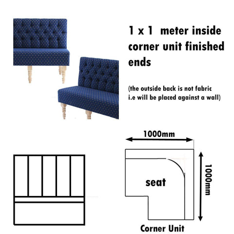 Bench Seat - 1 X 1  Meter Inside Corner Unit Old World  Bench Seat