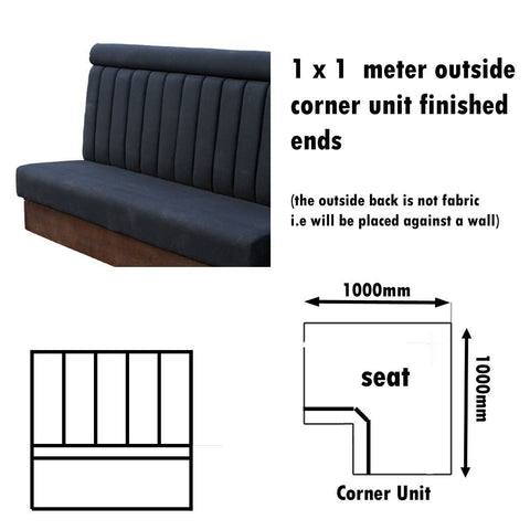 Bench Seat - 1 X 1  Meter Outside Corner Unit High Back Bench Seat