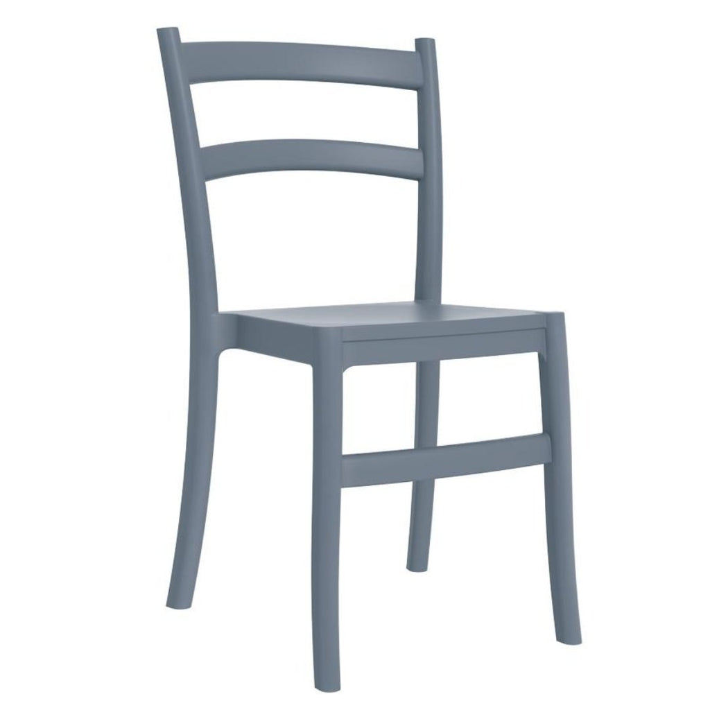 Stacking Chair - EGO Side Chair – ZA.484C – Dark Grey