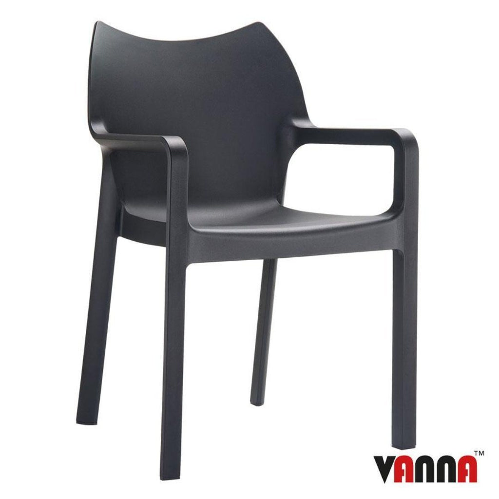 Stacking Chair - PEAK Arm Chair – ZA.366C – Black