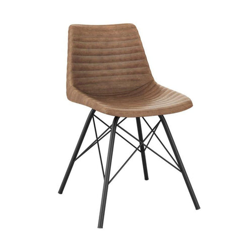 Stacking Chair   REMY Side Chair U2013 ZA.524C U2013 Vintage Tan