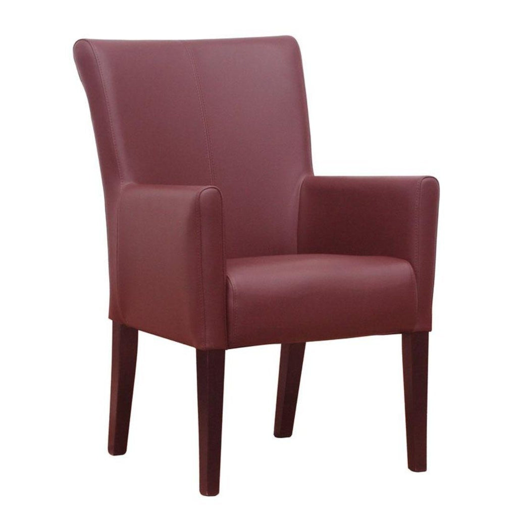 Stacking Chair - YORK Arm Chair – Red – ZA.402C