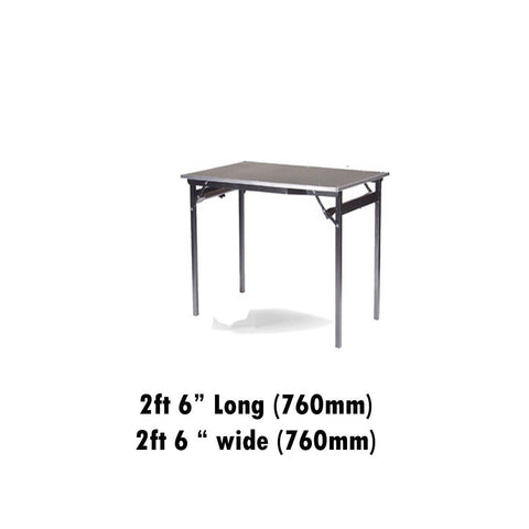 "Tables - 2ft 6"" X 2ft 6"" Deluxe Folding Flock Top Table"