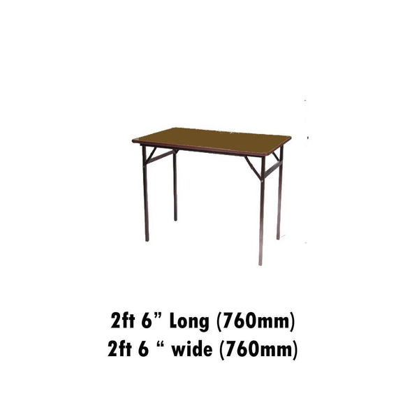"Tables - 2ft 6"" X 2ft 6"" Melamine  Top Folding Table"