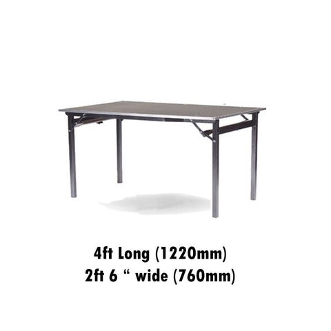 "Tables - 2ft 6"" X 4ft Deluxe Folding Flock Top Table"