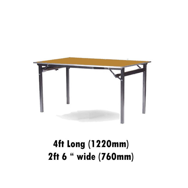 "Tables - 2ft 6"" X 4ft Deluxe Folding Plain Top Table"