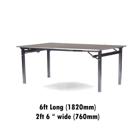 "Tables - 2ft 6"" X 6ft Deluxe Folding Flock Top Table"