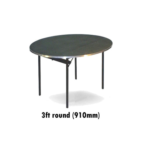 Tables - 3ft Round Deluxe Folding Flock Top Table