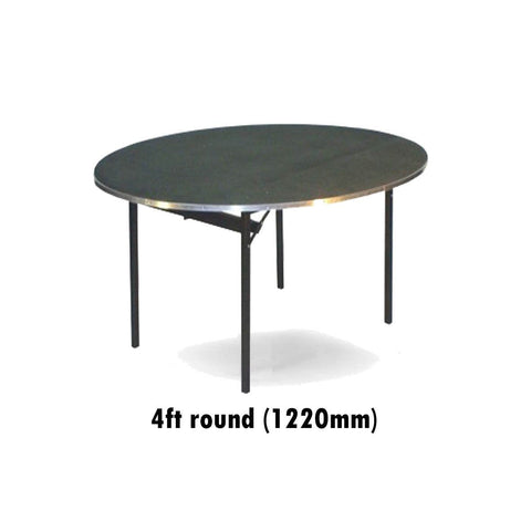 Tables - 4 Ft Round Deluxe Folding Flock Top Table