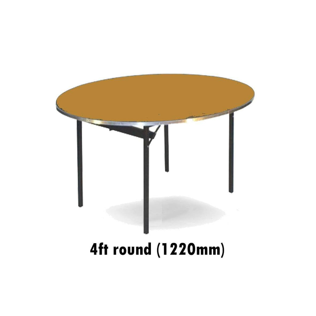 Tables - 4 Ft Round Deluxe Folding Plain Top Table