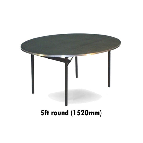 Tables - 5 Ft Round Deluxe Folding Flock Top Table