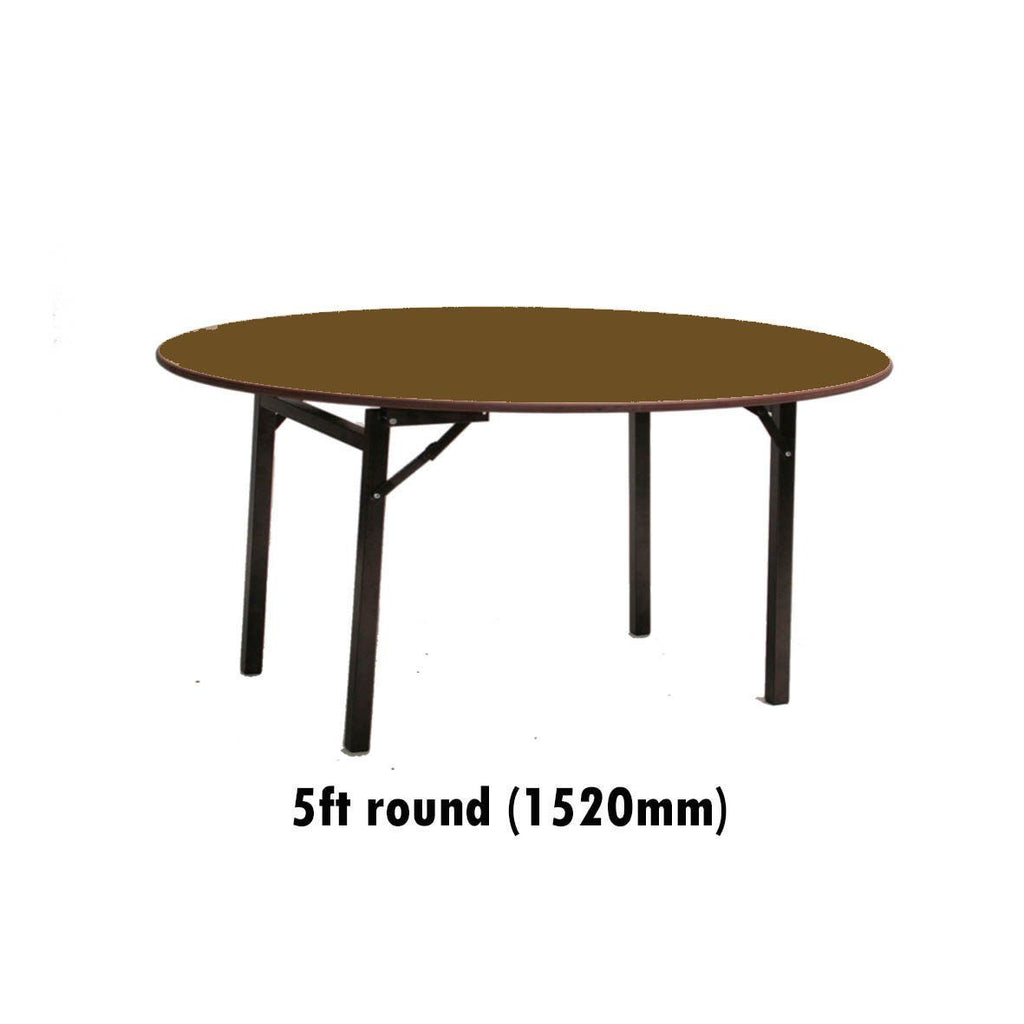 Tables - 5 Ft Round Melamine Top Folding Table