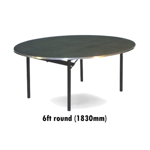 Tables - 6 Ft Round Deluxe Folding Flock Top Table