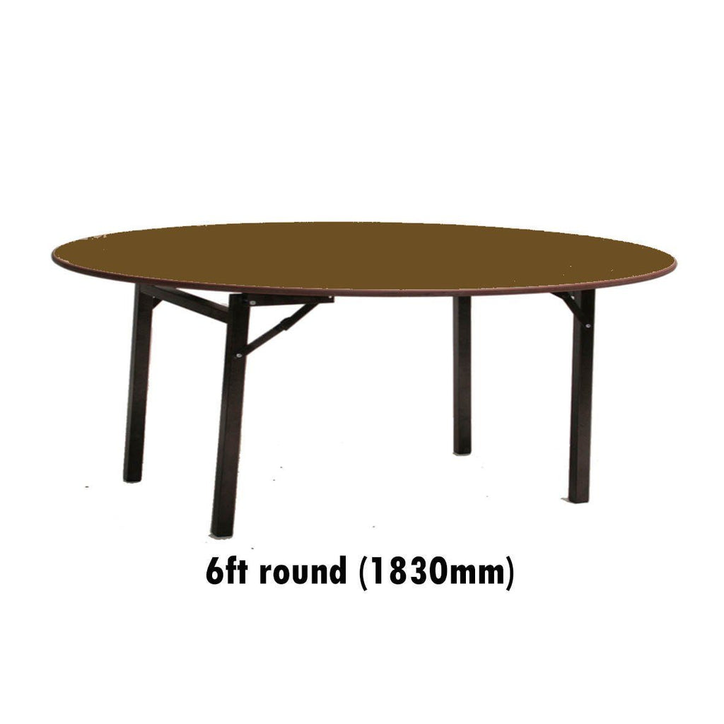 Tables - 6 Ft Round Melamine Top Folding Table