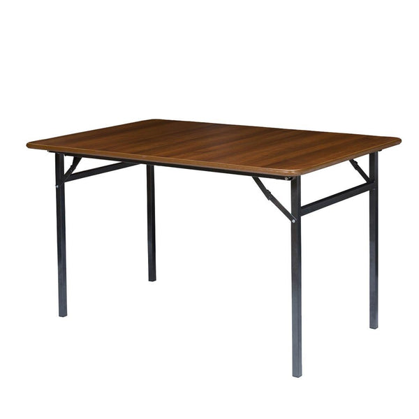 Tables - Folding Tables Walnut Melamine Finish Square & Rectangular