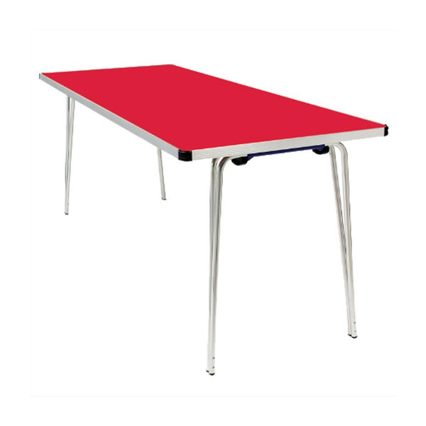 Tables - Light Fold Contour Tables Poppy Red Finish