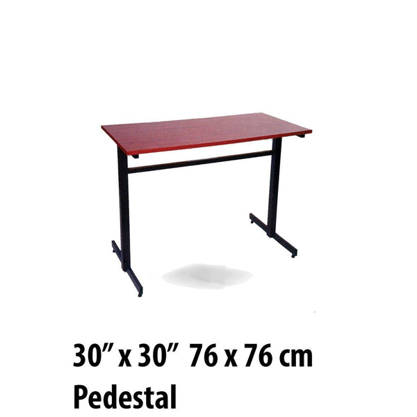 "Tables - Pedestal Table Square 30"" X 30"""
