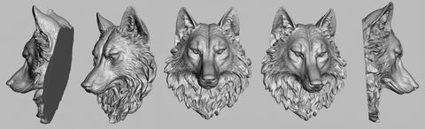 Alice & Chains Jewelry - Wolf lapel pin. 3D scanning