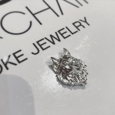 Alice & Chains Jewelry - Wolf, Sterling Silver Lapel Pin