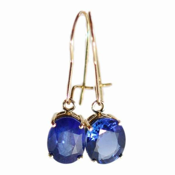 Alice & Chains Jewelry - 18K Sapphire Yellow Gold Earrings, Dobbs Ferry Jeweler, Westchester Jeweler