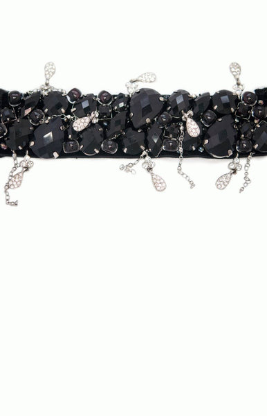 It's a Snap Couture Black Beaded Cuff - Alice & Chains Jewelry, Houston Jewelry Designer
