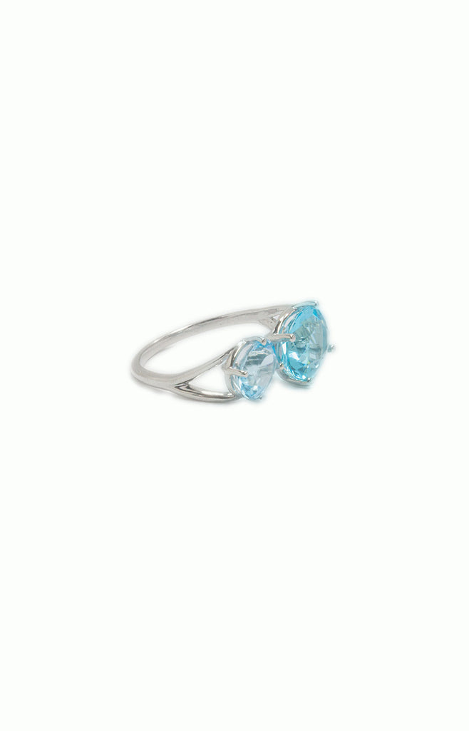 Double Oval Topaz Silver Ring - Alice & Chains Jewelry, Houston Jewelry Designer