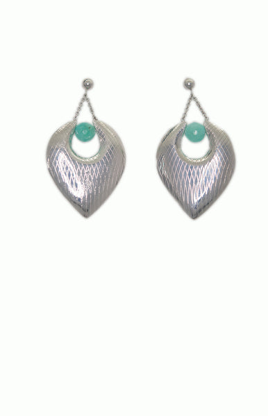 Drive me Chrysoprase Silver Earrings - Alice & Chains Jewelry, Houston Jewelry Designer