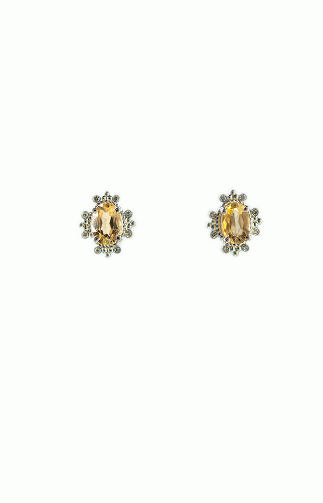 Gemstone Diamond Earrings - Alice & Chains Jewelry, Houston Jewelry Designer