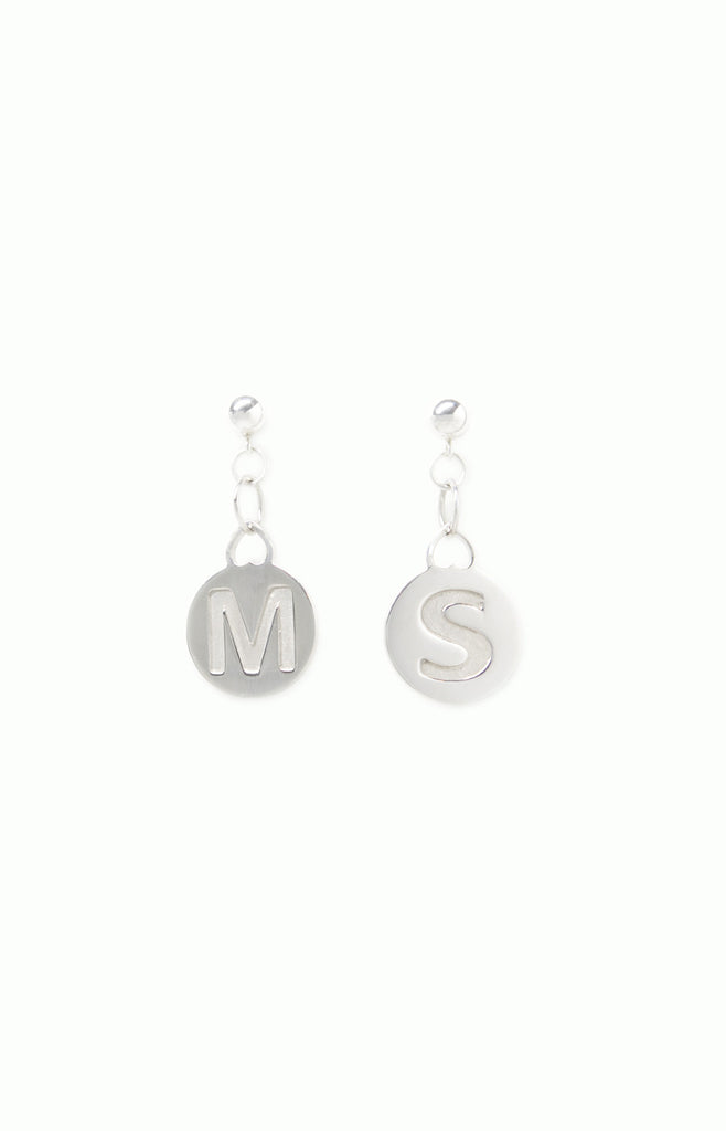 Heart Initial Earrings - Alice & Chains Jewelry, Houston Jewelry Designer