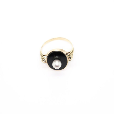 Onyx Pearl Ring - Alice & Chains Jewelry, Houston Jewelry Designer