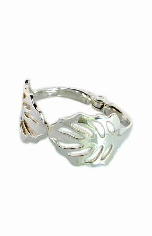 Leaf Cuff - Alice & Chains Jewelry, sterling silver bracelet, leaf bracelet, bespoke jewelry, Made in New York, Dobbs Ferry, Rivertowns, Westchester, jewelry designer