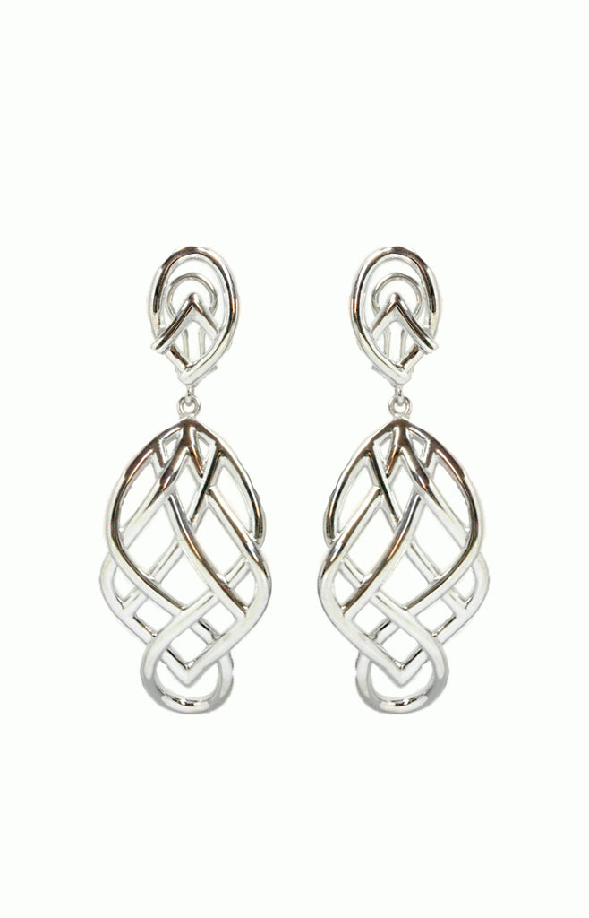 Long Celtic Earrings, Celtic Earrings, Celtic Knots, Alice & Chains Jewelry, bespoke jewelry, Dobbs Ferry