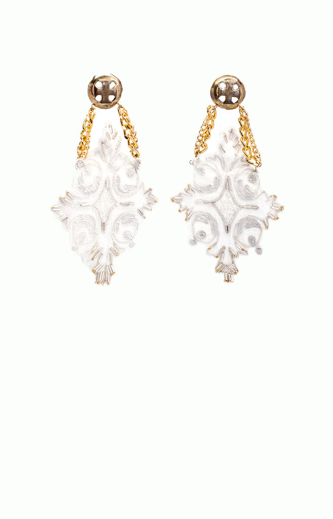 Madeira Lace & Chains Earrings - Alice & Chains Jewelry, Houston Jewelry Designer