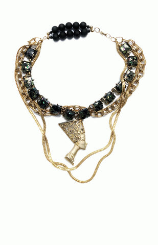 Nefertiti Necklace - Alice & Chains Jewelry, Houston Jewelry Designer