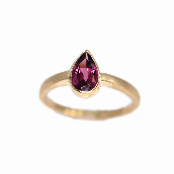 Alice & Chains Jewelry - Ruby Pear Gold Ring