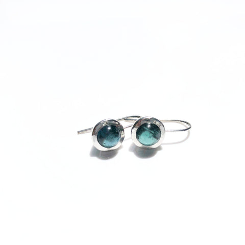 Blue Tourmaline Silver Earrings - Alice & Chains Jewelry, Houston Jewelry Designer