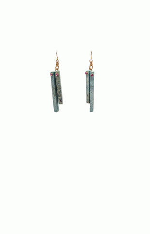 Pink & Green Couture Earrings - Alice & Chains Jewelry, Houston Jewelry Designer