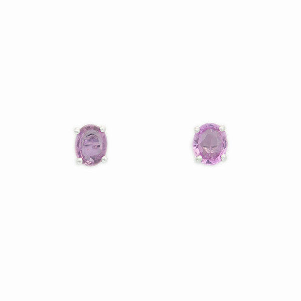 Pink Sapphire Earrings - Alice & Chains Jewelry, Houston Jewelry Designer
