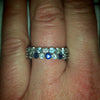 Diamond Sapphire Aquamarine Eternity Bands - Alice & Chains Jewelry, Houston Jewelry Designer