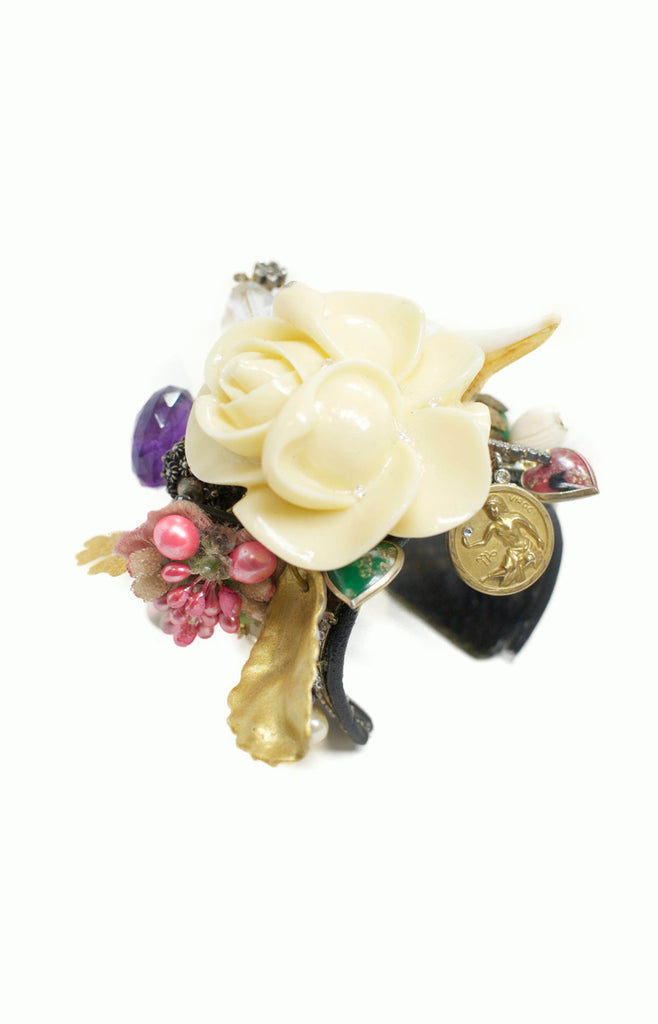 Rose Cuff - Alice & Chains Jewelry, one of a kind jewelry, rose bracelet, made in new york, dobbs ferry, rivertowns, westchester, jewelry designer, bespoke jewelry, fashion jewelry